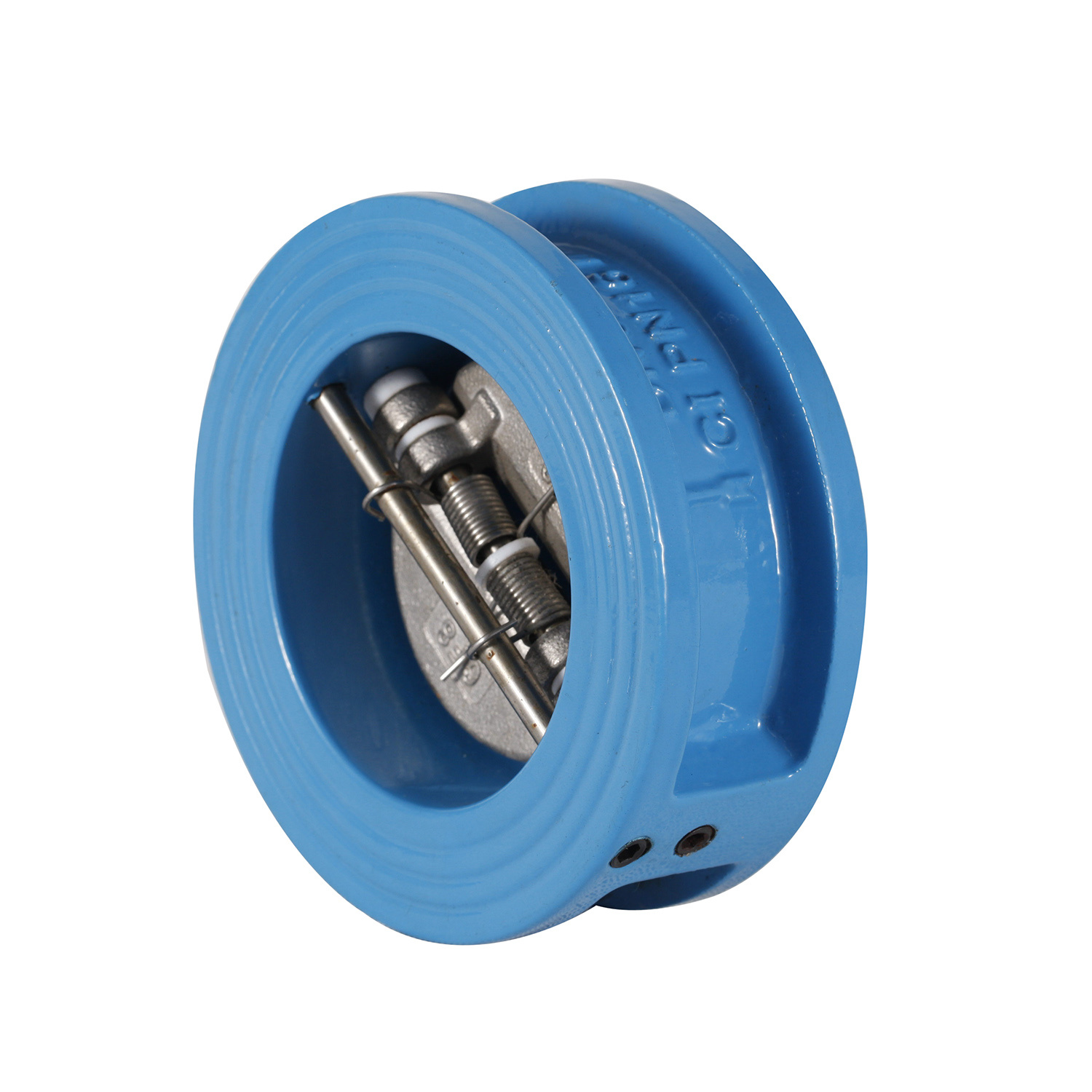 Dual plate double pump check valve