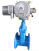 Electric Actuator Operated Cast Iron Non-Rising Stem Gate Valve
