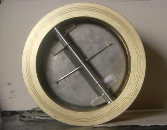 Pn10 Aluminium Bronze Dual Plate Wafer Type Check Valve
