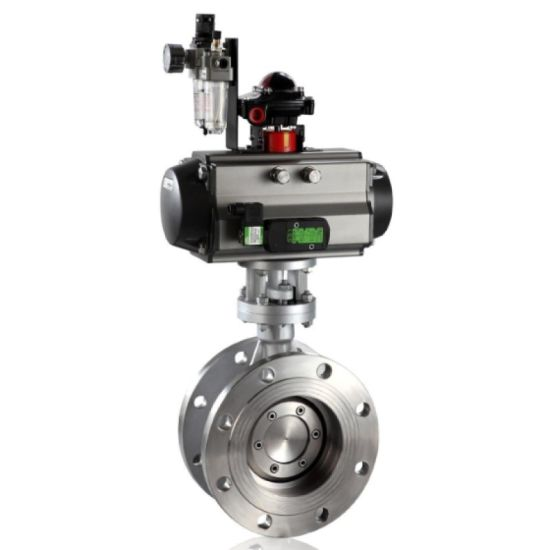 High Performance Butterfly Valve with Pneumatic Actuator and Manual Override