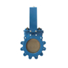 Di Body Swing Worm Gear Knife Gate Valve with Ce Approval
