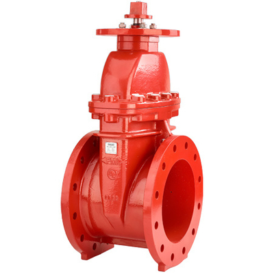 Double Flanged Non-Rising Stem Gate Valve Resilient